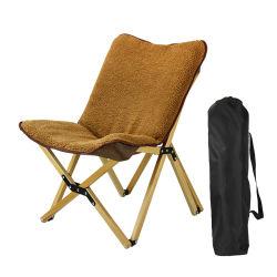 Pagayé voyageant fauteuil avec du bois de velours de la bulle