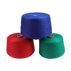 Fios de poliésteres Tricotar para linhas de costura de fibras descontínuas de poliésteres