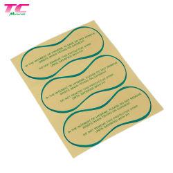 Impressão personalizada Eco-Friendly Claro/PVC autocolante de papel autocolante de protecção higiénica etiqueta adesiva de calções de roupas íntimas lingeries