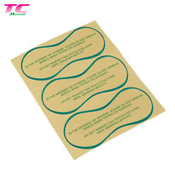 Contrassegno appiccicoso del PVC di protezione igienica adesiva ecologica dell'autoadesivo per la biancheria intima dello Swimwear