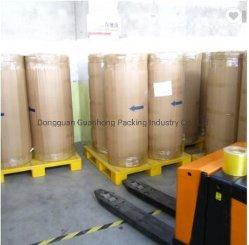 38micron/40micron 1280/1600/1620mm 4000m 6000m Clear/Brun/Tan OPP BOPP Rouleau Jumbo Bande d'emballage Pricce de bonne qualité à bas prix