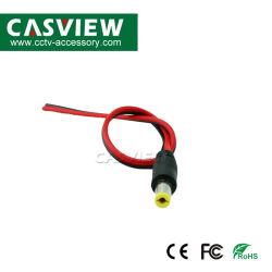 مقبس تيار مستمر 12 فولت مقبس التيار الكهربي مقبس التيار الكهربي ومقبس CCTV كبل موصل الكاميرا 5.5X2.1مم 30 سم السلك الأسود والأحمر