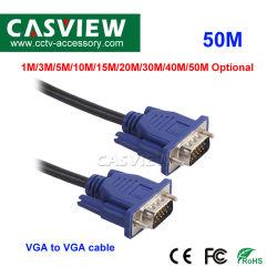 남성 파랑 15pins M/M HDMI VGA HD 이동 철사 영상에 50m VGA 선 남성