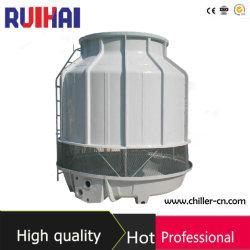 10-100 Rt Design Populares Contador de PRFV Ronda de baixo ruído de fluxo de fibra de vidro Industrial Chiller resfriado a água da torre de resfriamento