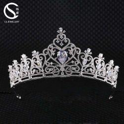 Nouveau mode d'arrivée de gros cristaux de mariée CZ Tiaras couronne pour le parti de mariage