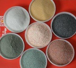 고품질 석류석 모래 각종 색깔 모래 색깔 모래 자연적인 색깔 모래