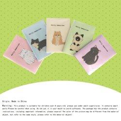 Diamant-Notizbuch-Karikatur-Stickerei-Kunst-spezielles geformtes Diamant-Mosaik-Katze-Notizbuch der Katze-5D DIY