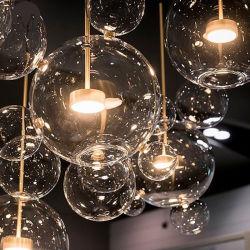 Современный комфортабельный отель декоративные очистить Стеклянный шарик LED подвесной светильник