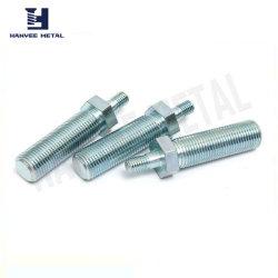 Cabeças de duas hastes da rosca do parafuso com revestimento de zinco