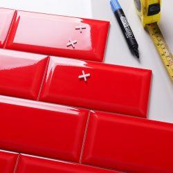 4*8 Polegada Red Brick telha cerâmica vidrada azulejos de parede 100*200mm