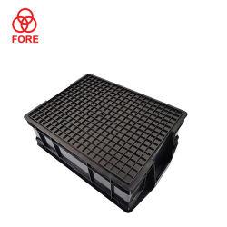 OEM industriais Fabricação plástico preto ESD recipiente de armazenamento