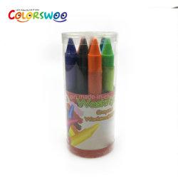 El color de cera de 1.0cm de 12 lápices de colores con caja de PVC