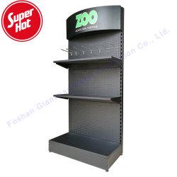 Suelo metálico Pegboard hardware Herramientas de ganchos de la tienda de productos de la pantalla de exhibición de rack
