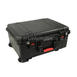 Maletín de plástico impermeable de plástico de seguridad Caja para equipos con ruedas