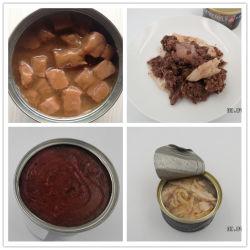 マットのためのマットの鶏及びビーフの味のパテの/Chunkによって缶詰にされるぬれたペットフード
