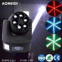 6PCS 10W LED bewegliches Hauptlichtstrahl-Punkt-Stadium Equipemt