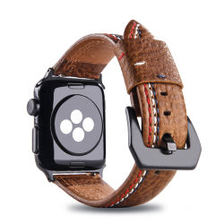 Neue des Entwurfs-Qualitäts-echten Leder-38mm Uhrenarmbänder Uhrenarmband-Kuh-des Leder-40mm