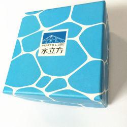 Из двух частей стиле синий картонный подарочная упаковка с черной бархатной лоток