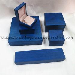 実質の木製の無光沢の終わりの宝石類シリーズボックス正方形の荷箱の腕輪ボックス
