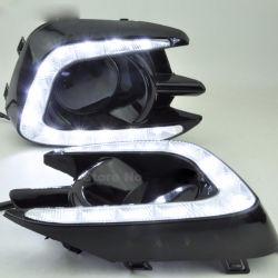 안개 램프 구멍 12V LED 차 DRL 매트를 가진 주간 야간 항행등 또는 미츠비시 Pajero 스포츠 2013를 위한 광택 작풍 2014 2015년
