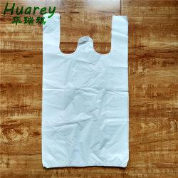 최고 판매 관례에 의하여 인쇄되는 HDPE 플라스틱 t-셔츠 비닐 봉투
