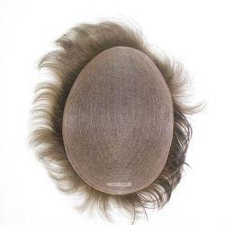 Men's nº 1 de la base de Mono peluca - Larga Vida Natural cabello humano.