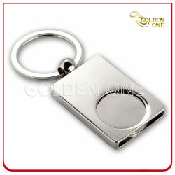 개인화된 진주 니켈에 의하여 도금되는 공백 금속 트롤리 동전 열쇠 고리