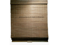 タケ材料のコードレスカーテン