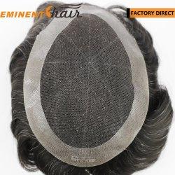 Кружевной базы человеческого волоса мужской волос, замена
