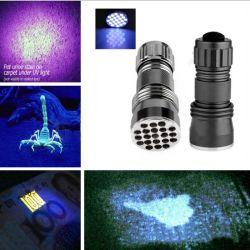 21 LED UVFlashlight Ultraviolet 395nm Blacklight Torch Lamp