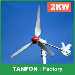 2kw hors réseau de systèmes d'énergie éolienne pour les foyers