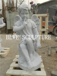 Poca decorazione di pietra Mfsg-66 del giardino della scultura del marmo del Cherub delle statue di angelo