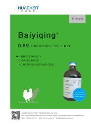Alta calidad de 0,5% de las BPF diclazurilo medicamentos veterinarios de la solución