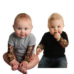 El algodón de alta calidad de impresión Bodysuit Long-Sleeve tatuaje bebé ropa de bebé conjunto