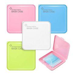 4 Cores Caixa de máscara de armazenamento de plástico do Organizador Pasta reutilizáveis Protetor de armazenamento portátil de armazenamento de tampa da face da máscara antibacteriana caso