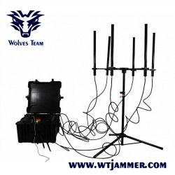 Tetra teléfonos 3G 4G DDS bandas Walky-Talky completo bomba GPS WiFi Jammer señal de teléfono móvil
