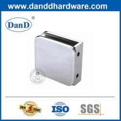 Acier inoxydable à angle droit accessoire de porte de douche en verre Clip de support