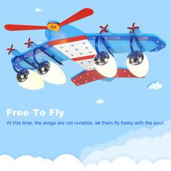 Control remoto inteligente LED Avión musical para niños de la luz de techo / Salas de entretenimiento para niños Modelo Decoración luz-B