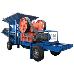 Mobiel type afval Bouwmaterialen verplettermachine Quartz steenvergruizing Apparatuur Blick concrete Block Crusher
