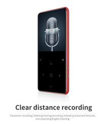 Leitor de MP4 com Bluetooth MP3 Player de música MP4 portátil de MP4 Media Ultra-Thin 2,4 polegadas da chave de contato
