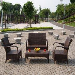 Venda a quente em alumínio resistente a cana em vime Vime mobiliário de jardim exterior
