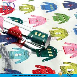 Feiertags-Geschenk-Verpackungs-Papier, Weihnachtsserien-Butike-Verpackungs-Papier-/Aluminiumfolie-Papier