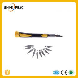 Rutschfeste der Metallgriff-Skalpell-+ Schaufel-10PCS Messer-hölzerne Papierschneidemaschine-Fertigkeit-Feder-Messer, Liebhaberei Knivesdiy Handhilfsmittel gravierend