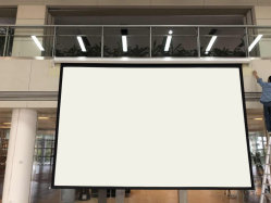De elektrische Gemotoriseerde Daling van de Motor van het Scherm van de Projectie van de Projector van 100 Duim onderaan het Scherm van de Afstandsbediening
