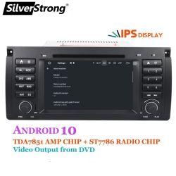 Silverstrong Car DVD 멀티미디어 플레이어 Px5 4G 64G Android 10 BMW 5 시리즈 E39 X5 E53 M5 GPS 내비게이션의 경우 라디오 DSP CarPlay