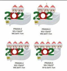 La benedizione noma libera della Santa DIY di modo di natale di consegna esprime specifiche facoltative Pendant della decorazione dell'albero di Natale del regalo del PVC le varie