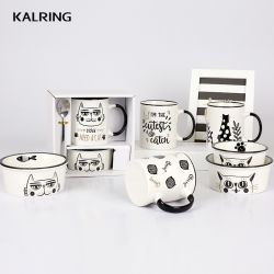 陶磁器のマグのギフトのマグのミルクのマグの卸売のための新しい骨灰磁器のマグ