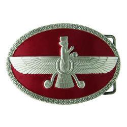 Il metallo d'ottone militare inarca gli inarcamenti di cinghia semplici del ricordo del cuoio dell'oro della bandierina all'ingrosso del cowboy (belt-17)