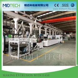 기계를 만드는 자동적인 플라스틱 PVC/WPC 천장 또는 벽면 (10m 또는 분) /Window/Door 위원회 또는 가장자리 밴딩 구석 지구 또는 Decking 또는 롤러 셔터 또는 케이블 중계 단면도