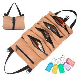 حقيبة قماشية لفافة الأدوات، حقيبة لفافة أدوات الربط متعددة الأغراض، حقيبة أدوات قماش لأدوات حمل الدراجات البخارية، أدوات الحديقة وأدوات كهربائية